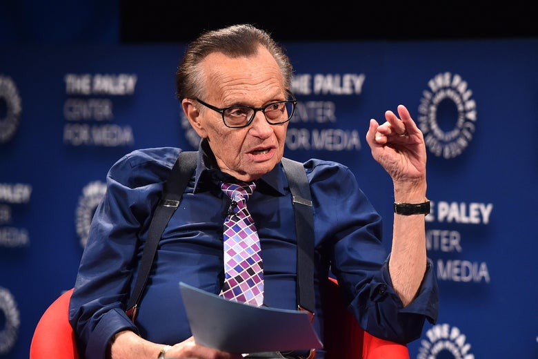 Larry King attends the Paley Center For Media Presents: A Special Evening With Dionne Warwick: Then Came You at the Paley Center for Media on August 1, 2018 in Beverly Hills, California.