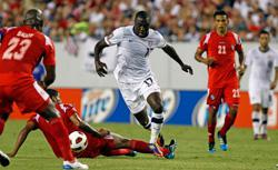 Jozy Altidore #17 of the United States advances the ball against Team Panama during the CONCACAF Gold Cup Match at Raymond James Stadium on June 11, 2011 in Tampa, Florida. Click image to expand.