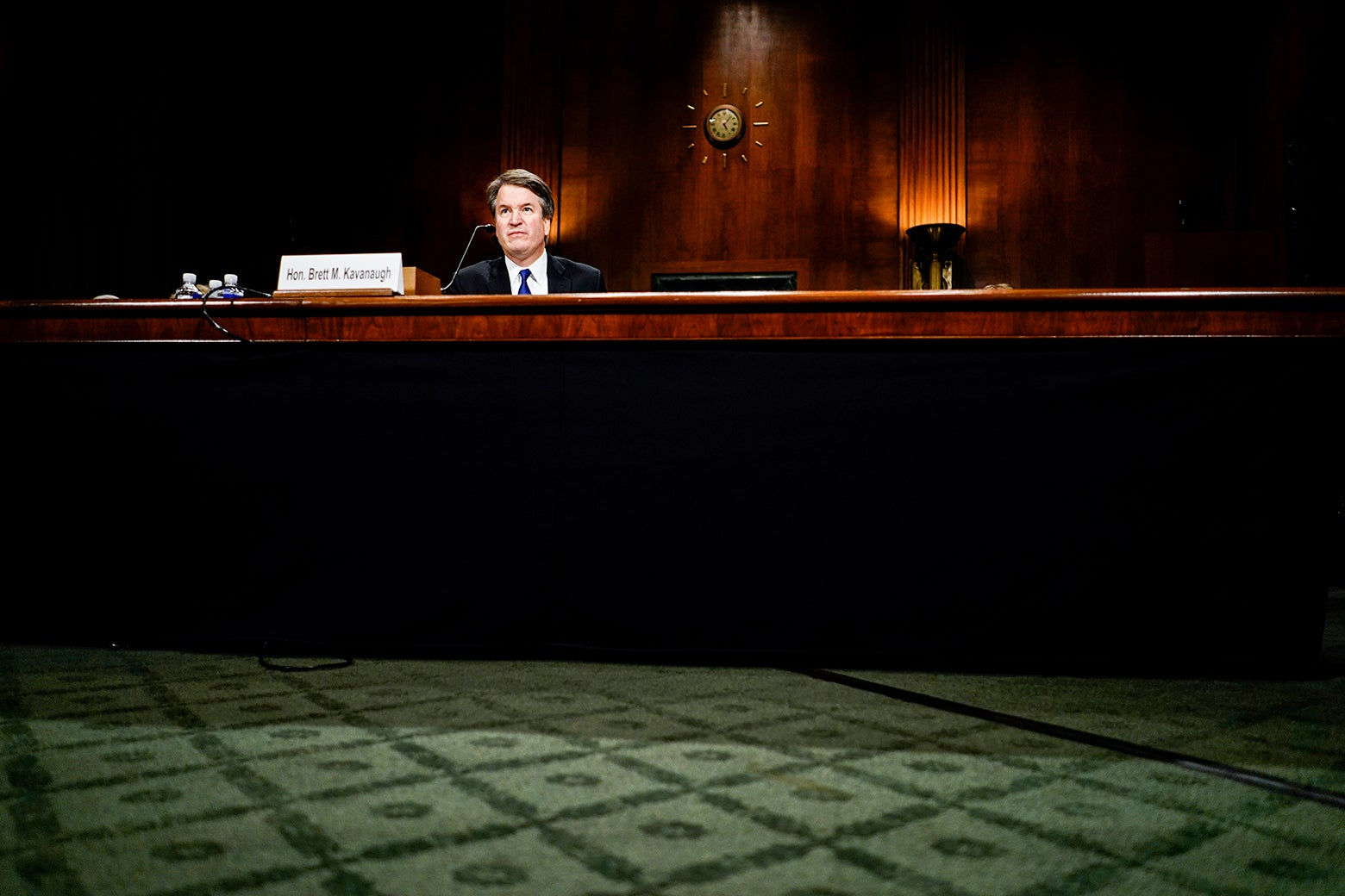 Kavanaugh seated for questioning.