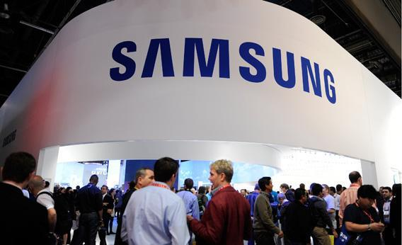 Samsung's booth is seen at the 2013 International CES at the Las Vegas Convention Center.