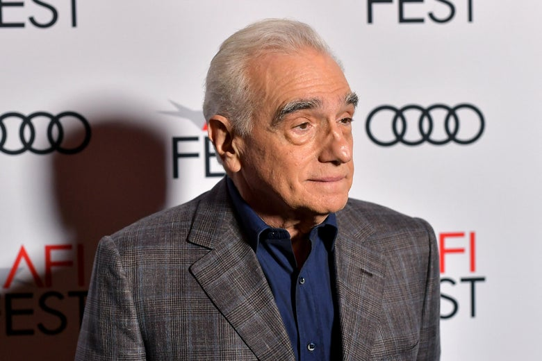 Martin Scorsese on a red carpet.