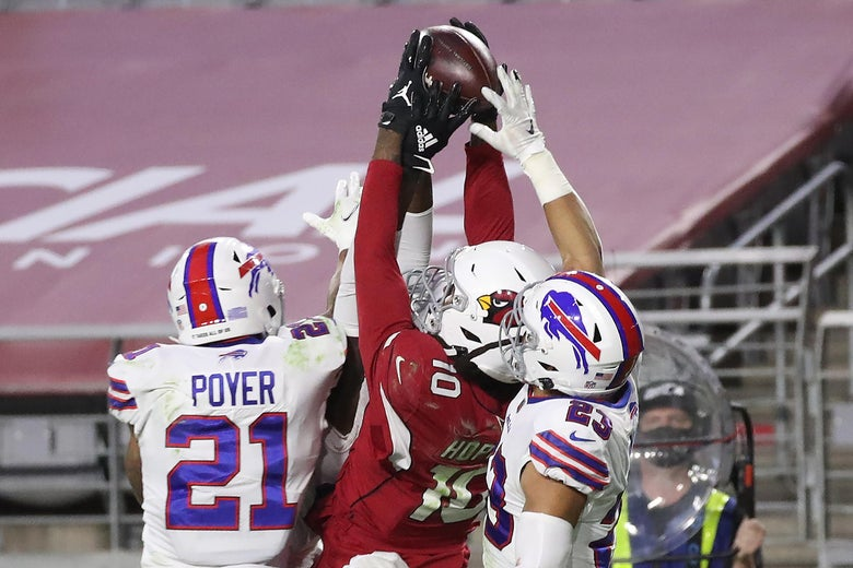 DeAndre Hopkins catches a Hail Mary against the Buffalo Bills.