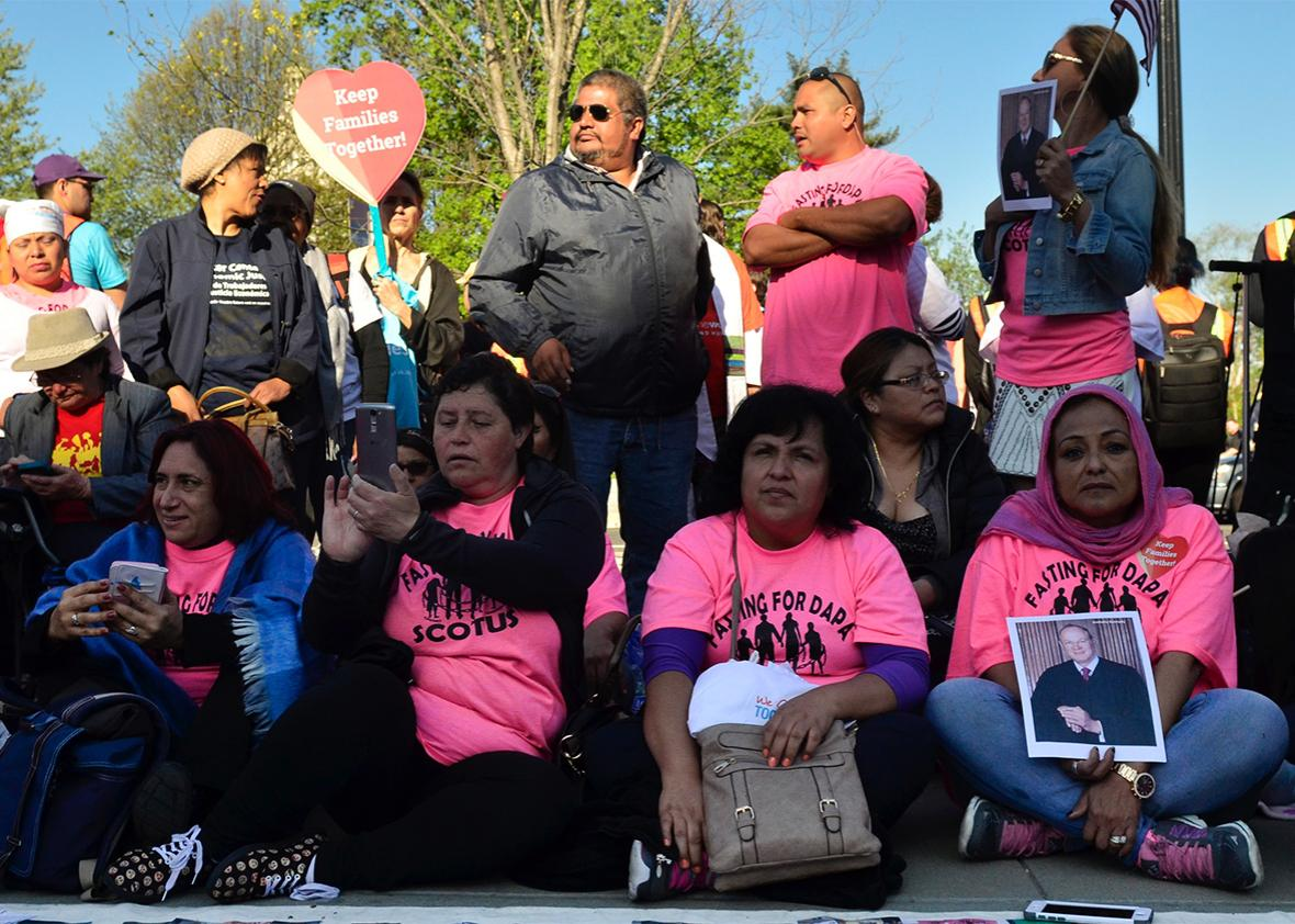 Protesters attend the Fight for Families Rally.