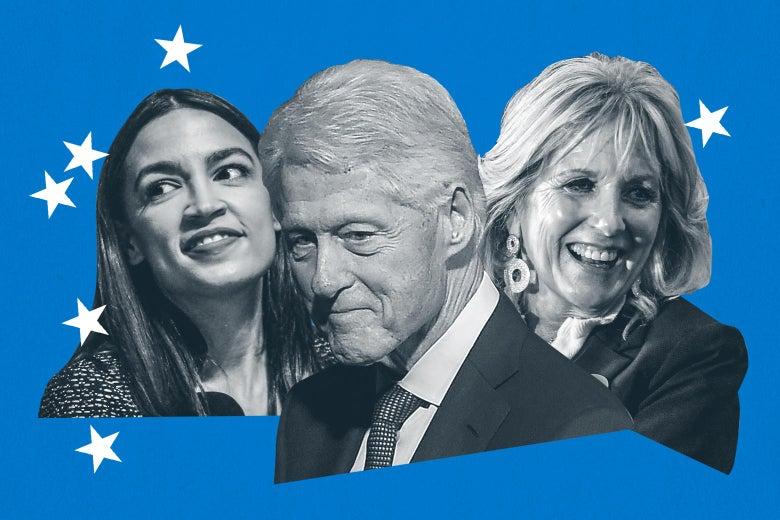 AOC, Bill Clinton, Jill Biden
