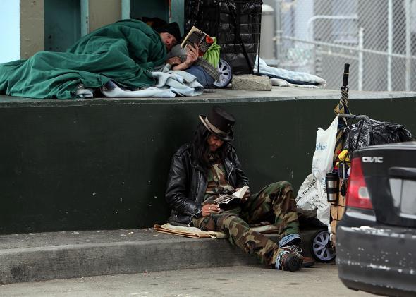 "San Francisco's homeless community has its own ""sharing economy."""