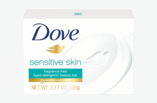 Dove Sensitive Skin Beauty Bar.