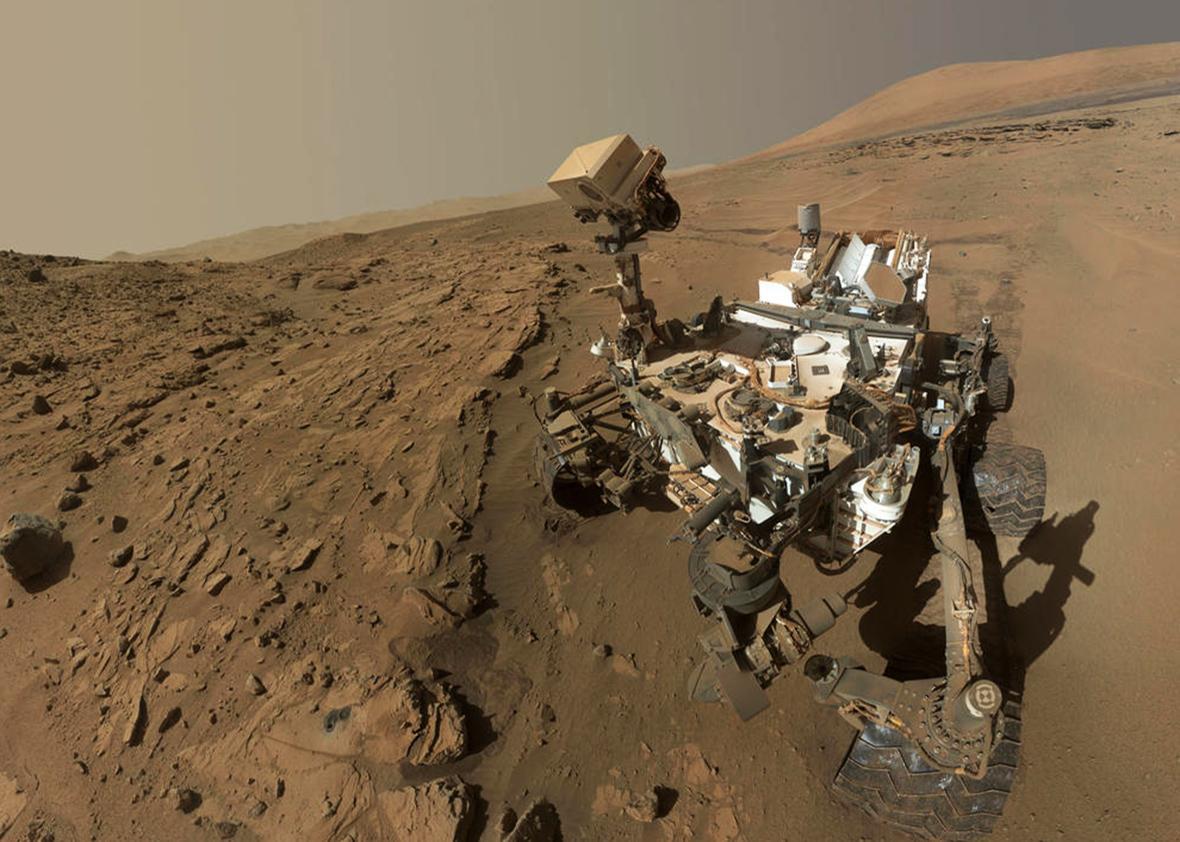 NASA Curiosity Mars rover.