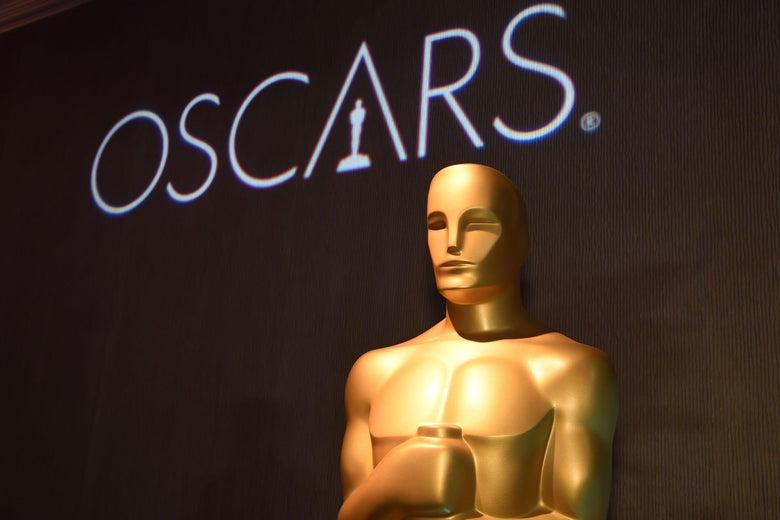 A giant Oscar statue.