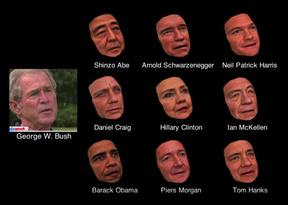 Software generates controllable models of famous people's