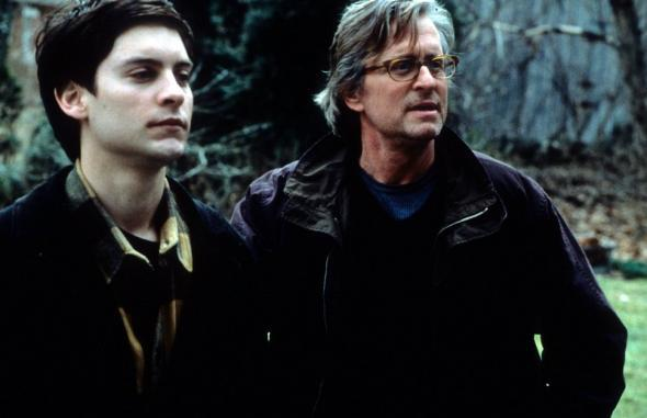 Tobey Maguire and Michael Douglas in Wonder Boys.