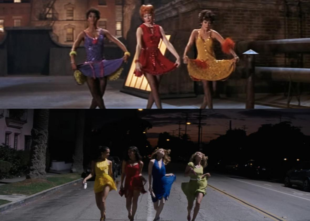 Top: Sweet Charity. Bottom: La La Land.