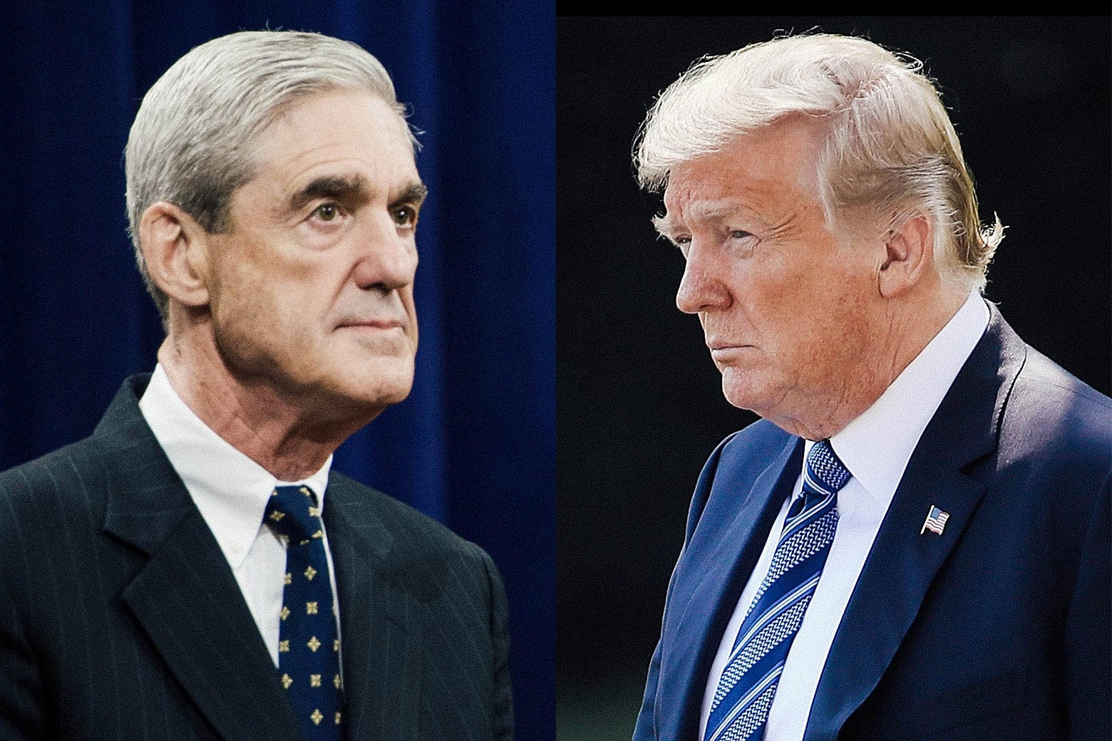 Robert Mueller and Donald Trump.