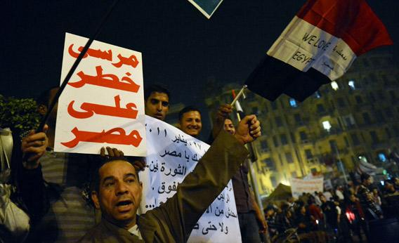 Tens of thousands of protesters rallied in Cairo as the opposition piled pressure on Islamist President Mohamed Morsi.