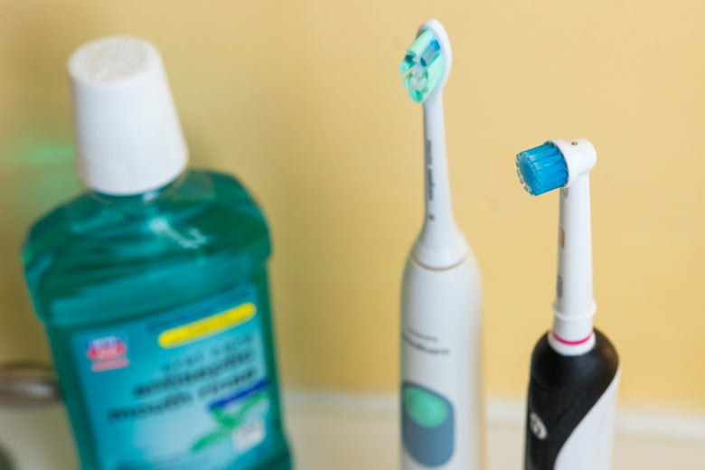Mouthwash and toothbrushes