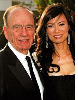 Rupert Murdoch and Wendi Deng Murdoch. Click image to expand.