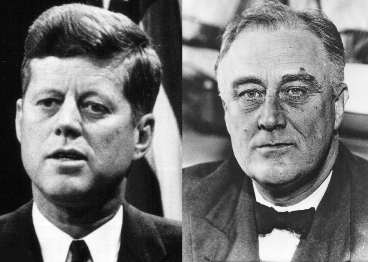 JFK and FDR.
