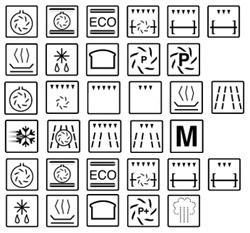 European appliance icons.