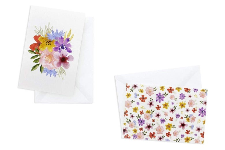 Floral cards with envelopes.