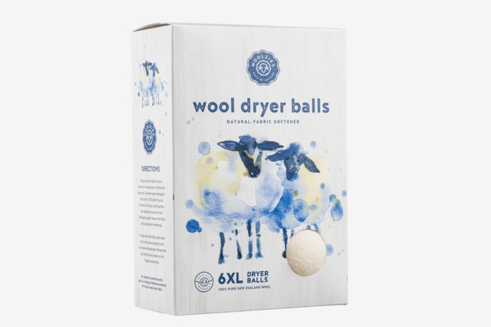 Box of Woolzies Wool Dryer Balls.