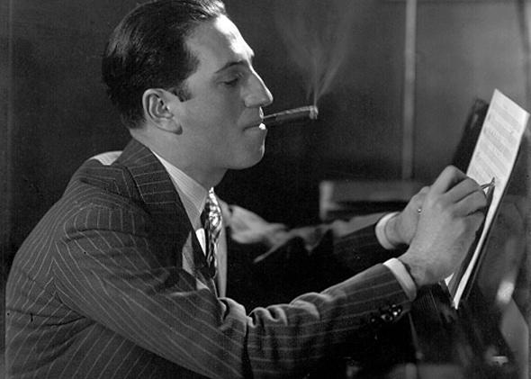 George Gershwin at the piano, 1927.