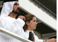 Sheik Mohammed bin Rashid Al Maktoum and his wife Princess Haya. Click image to expand.
