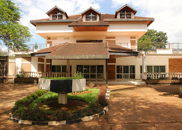 The Rwanda State House Museum, built in 1976 as the residence of former President Juvénal Habyarimana.