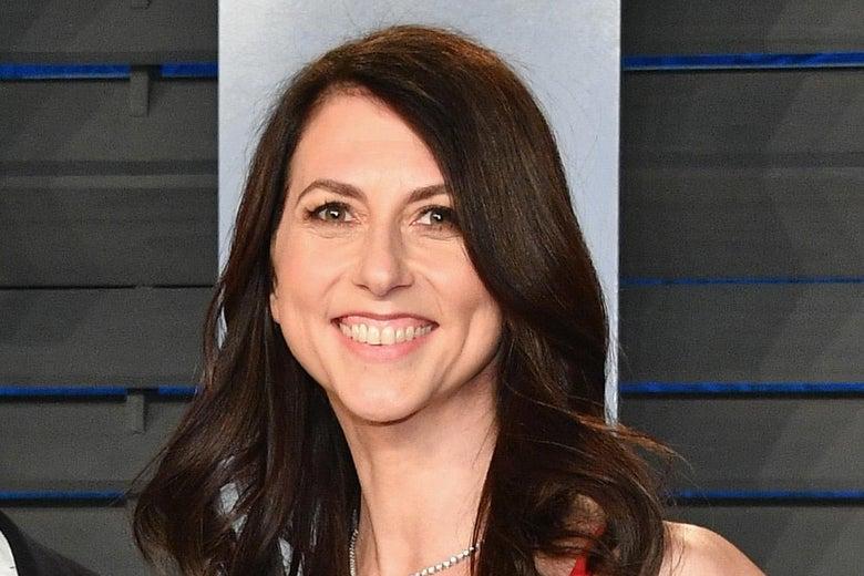 Close-up of MacKenzie Scott smiling broadly