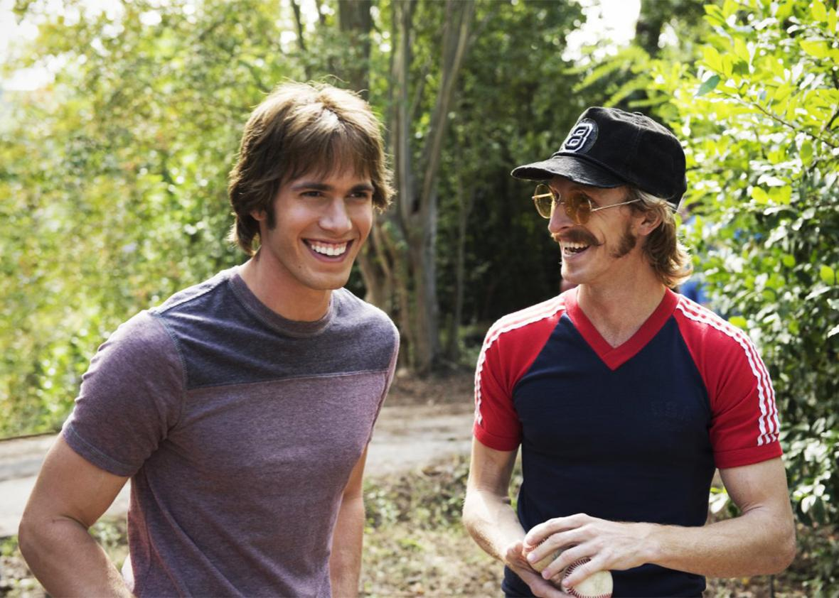 Austin Amelio and Blake Jenner in Everybody Wants Some.