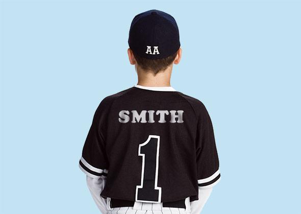 Photo illustration of baseball player
