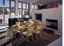 """The dining area of the NAHB """"New American Home"""""""