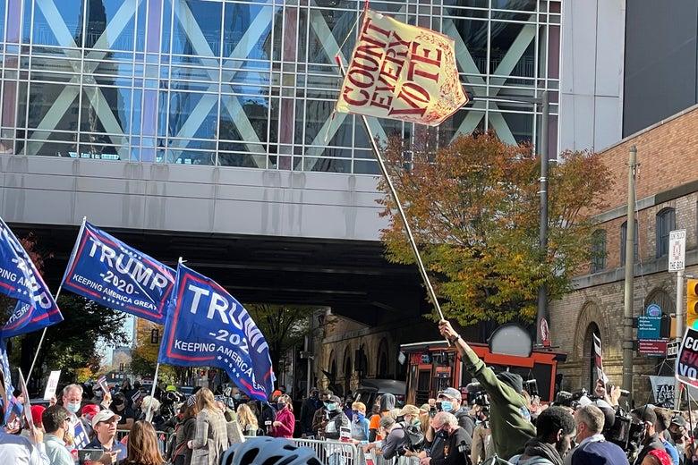 Philadelphia outside the Convention Center on Thursday.