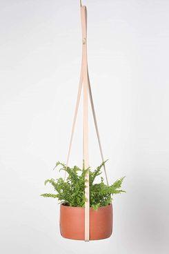 Teak & Tides Genuine-Leather Plant Hanger