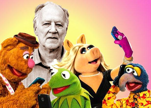 Director Werner Herzog and the Muppets.