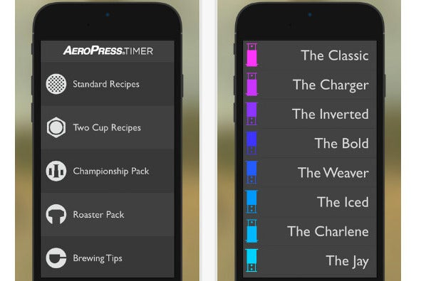 AeroPress Timer App.