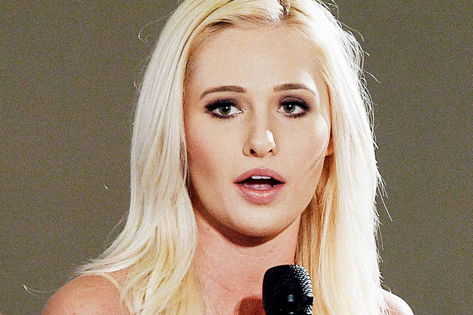 "Tomi Lahren at the ""Now What, Republicans?"" panel during Politicon at the Pasadena Convention Center on July 30 in Pasadena, California."