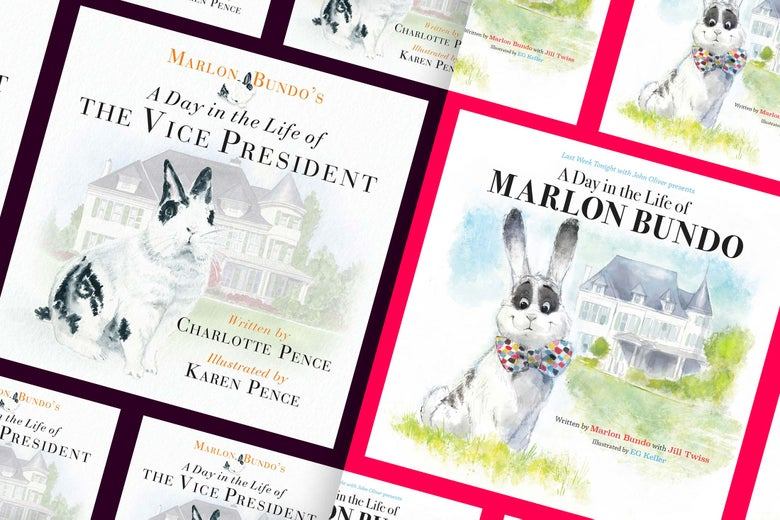 Covers of A Day in the Life of the Vice President and A Day in the Life of Marlon Bundo.