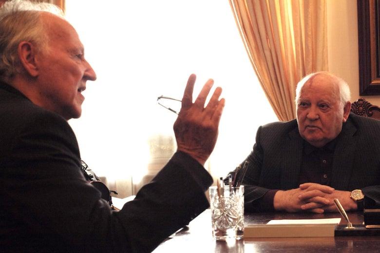 Werner Herzog and Mikhail Gorbachev in Meeting Gorbachev
