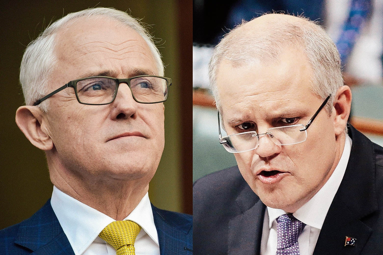 Malcolm Turnbull, Scott Morrison.