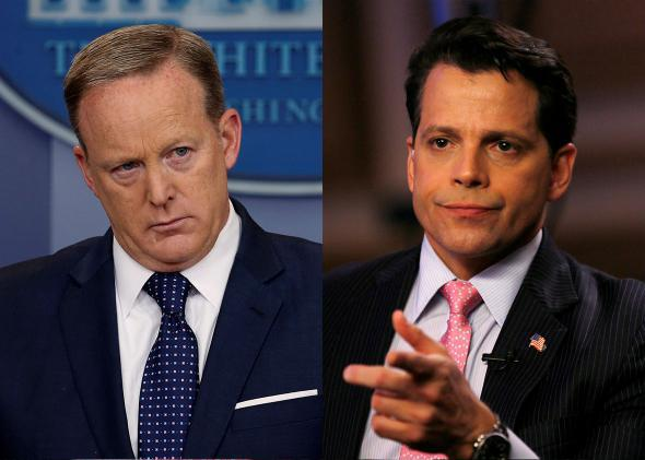 Anthony Scaramucci and White House Press Secretary Sean Spicer
