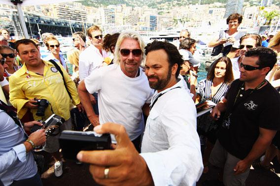 Richard Branson, amongst the VIPs.