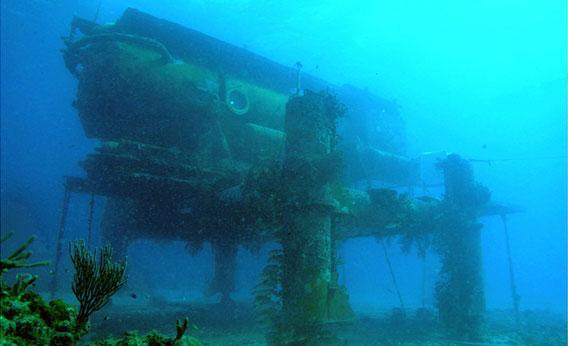 Aquarius Reef Base is an underwater research laboratory located within the Florida Keys National Marine Sanctuary.