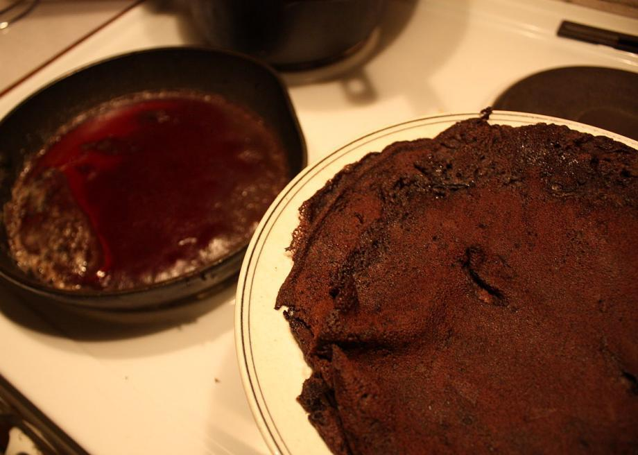 Blood pancakes are exactly what they sound like: a flapjack made