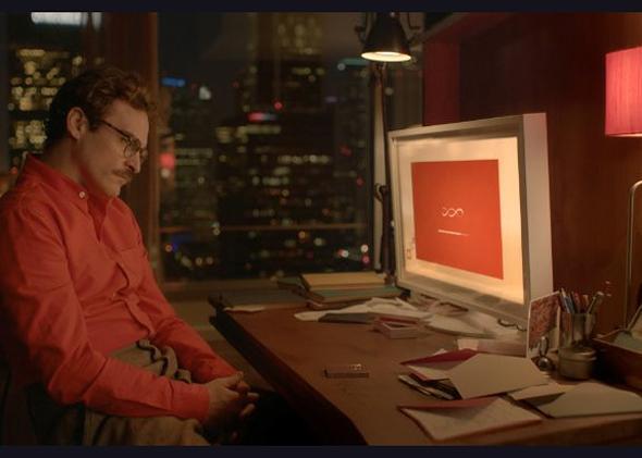 Joaquin Phoenix in Her (2013).