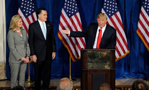trump with the romneys