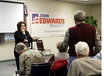 Elizabeth Edwards stumps for her husband