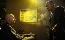 Walter White (Bryan Cranston) and Jack (Michael Bowen) in AMC's Breaking Bad.