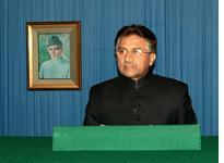 Pakistani President Pervez Musharraf. Click image to expand.