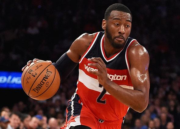 John Wall of the Washington Wizards in action during a game on Nov. 4, 2014, in New York City.