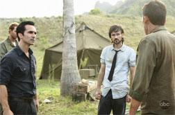Nestor Carbonell, Jeremy Davies, and Tom Connelly in Lost. Click image to expand.