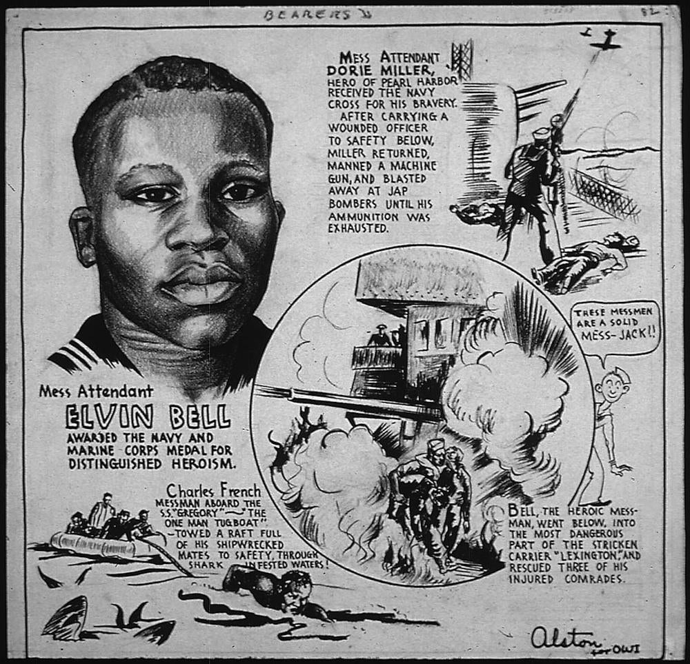 Black History: Charles Alston's biographical cartoons for the Office of War Information.